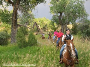 this is a picsture of horseback rides.  