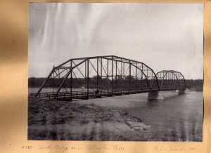 Bridge crossing Yellowstone River in Huntley, MT